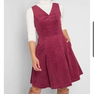 Modcloth Ultmost Allure Corduroy A-Line Dress